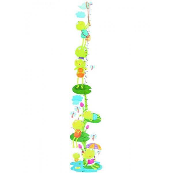 Samolepky na stěnu dětského pokoje- Žáby metr