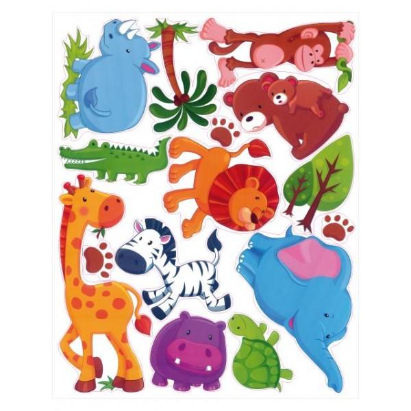 Samolepky na stěnu dětského pokoje- Safari