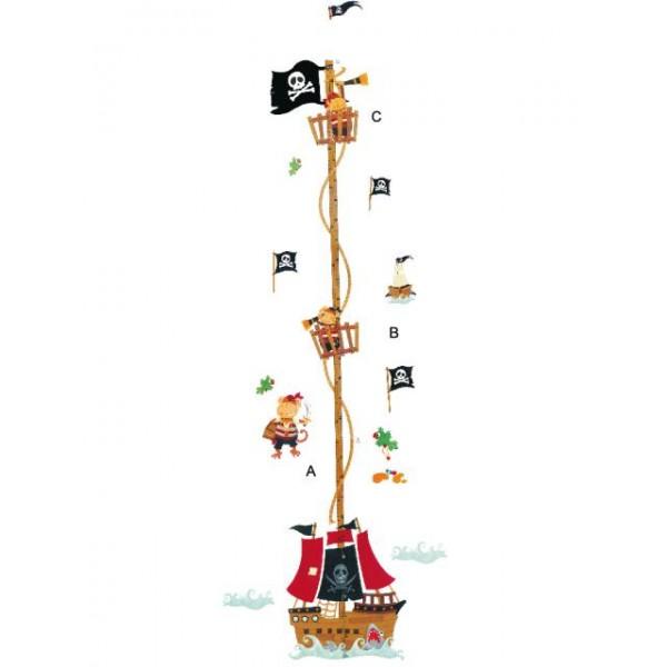 Samolepky na stěnu dětského pokoje- Piráti metr