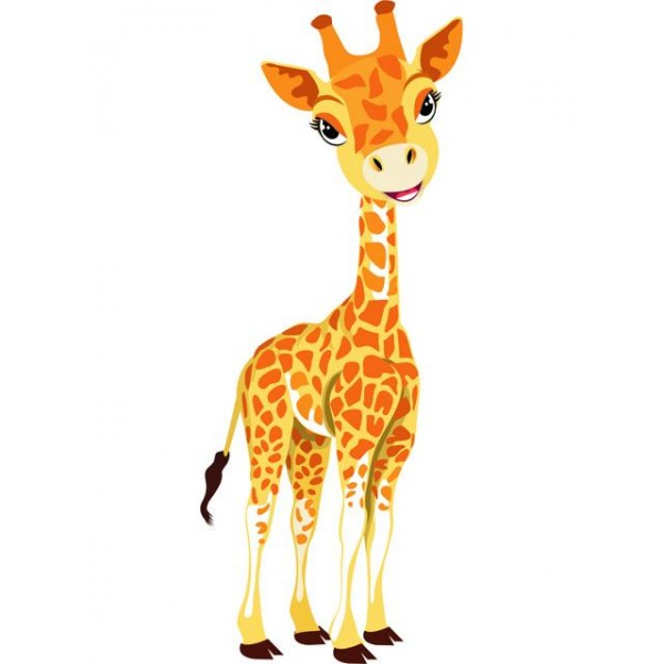 Nástěnné samolepky do dětského pokoje- Žirafa