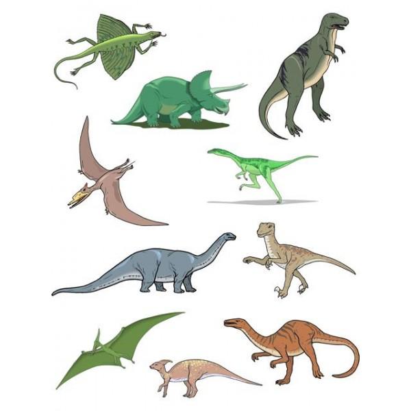 Dětské samolepky na stěnu- dinosaurus