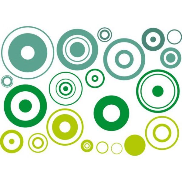 Samolepky na zeď- Zelené bubliny