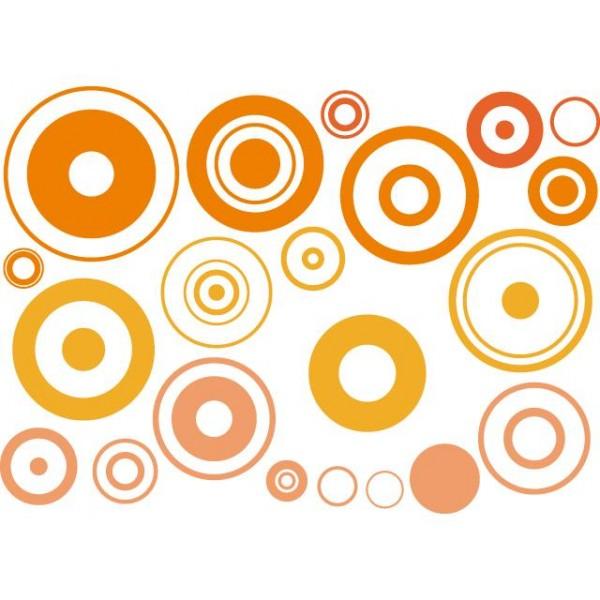 Samolepky na zeď dětského pokoje- Bubliny meruňkové