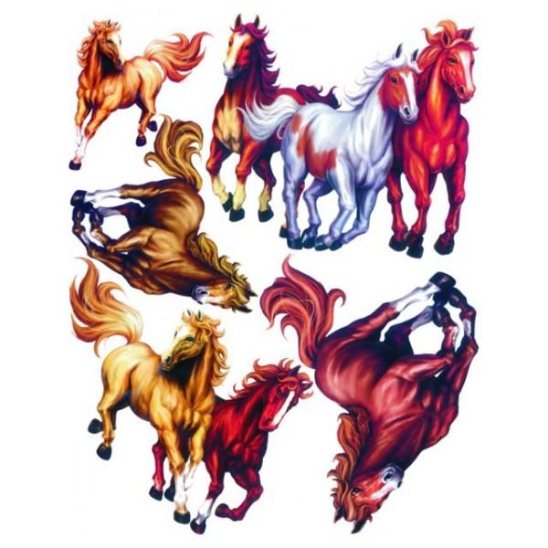 Samolepky na zeď dětského pokoje- Stádo koní