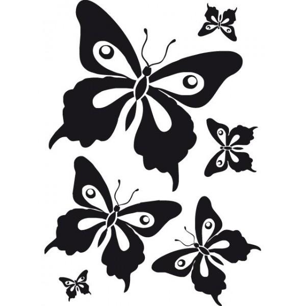 Samolepky na zeď dětského pokoje- Motýli černí