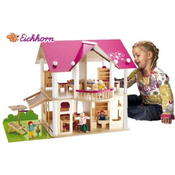 Domeček pro panenky s příslušenstvím Eichhorn