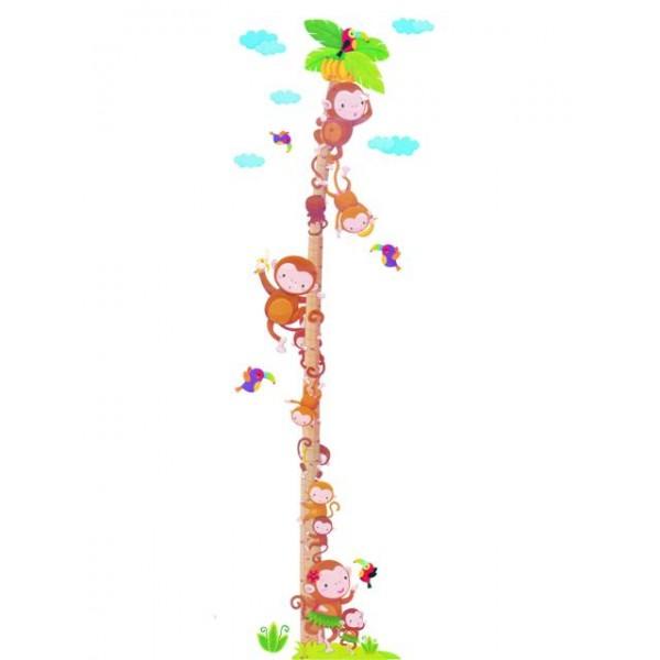 Samolepky na zeď dětského pokoje- Opice metr