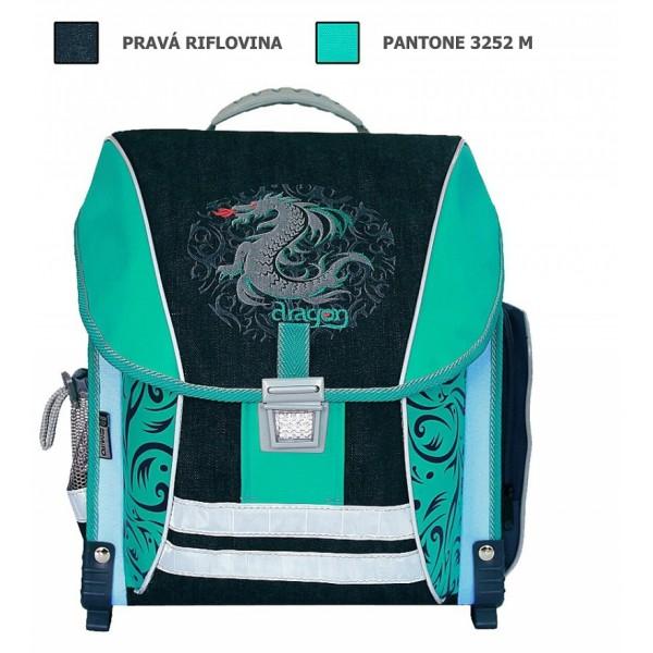 Školní batoh Dragon tyrkys Emipo