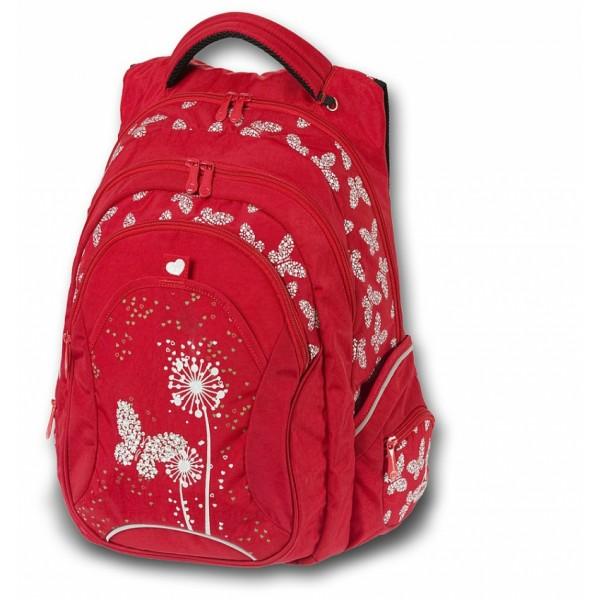 Studentský batoh Paradise červená Walker