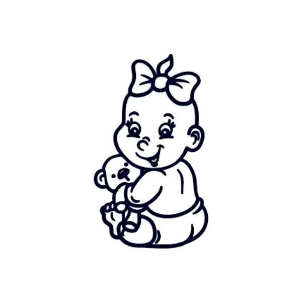 Samolepka na auto se jménem dítěte- holka 01