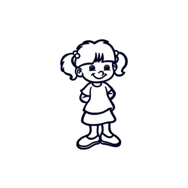 Samolepka na auto se jménem dítěte- holka 07