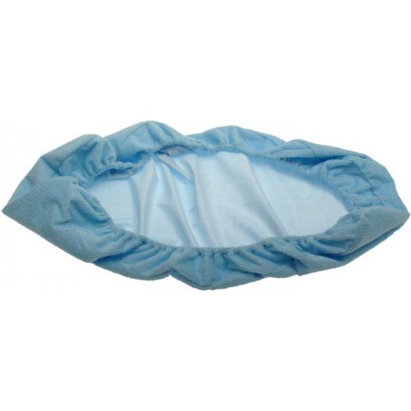 Nepropustné froté prostěradlo modré 80 x 200 cm Kaarsgaren