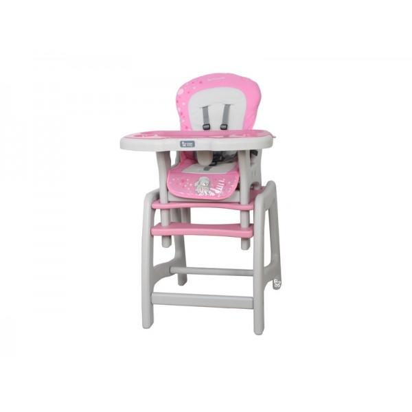 Coto Baby Stars růžová jídelní židlička