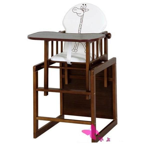 Jídelní stoleček Anežka III., ořech- židlička Safari- žirafa