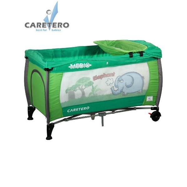Cestovní postýlka CARETERO Medio Safari green
