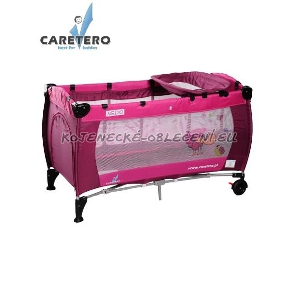 Cestovní postýlka CARETERO Medio rose