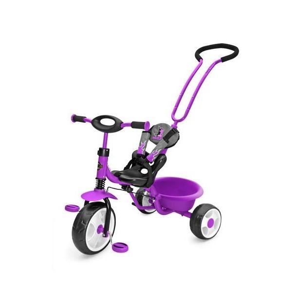 Dětská tříkolka se zvonkem Milly Mally Boby New- fialová