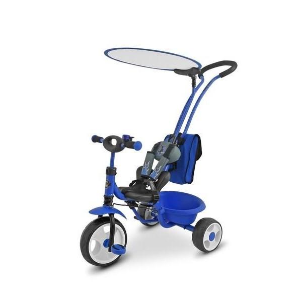 Dětská tříkolka Milly Mally Boby Delux RING- modrá