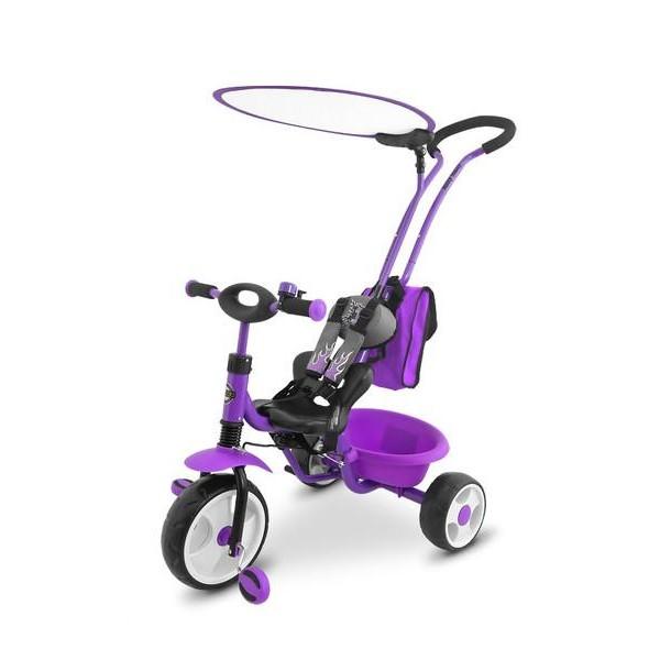 Dětská tříkolka Milly Mally Boby Delux RING- fialová