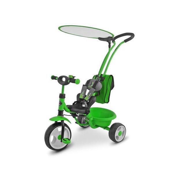 Dětská tříkolka Milly Mally Boby Delux RING- zelená