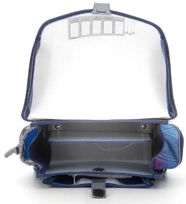 Školní aktovkový set Robocar 3-dílný Emipo- vnitřní uspořádání